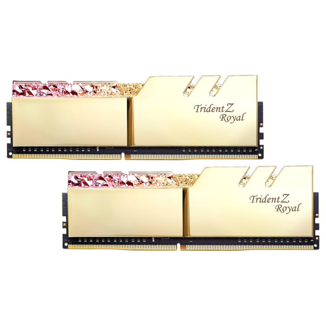 G.Skill - Trident Z Royal - 2 x 8 Go - DDR4 3200 MHz CL14 - Or - RAM PC Fixe