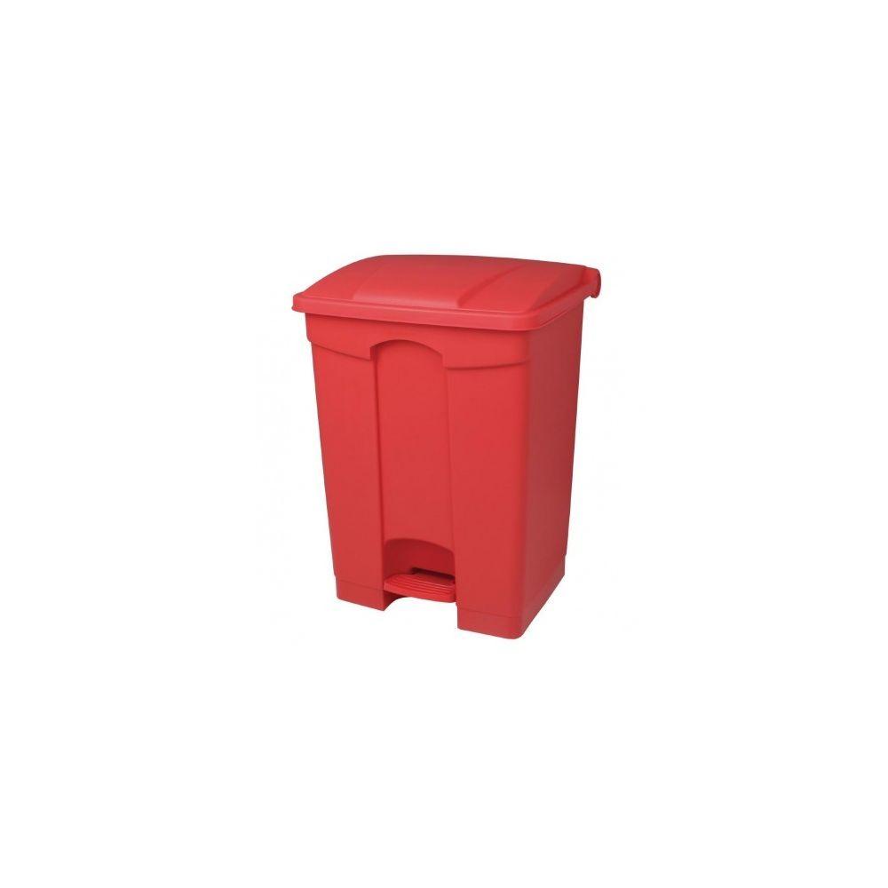 Jantex Poubelle de cuisine à pédale 65L Jantex rouge