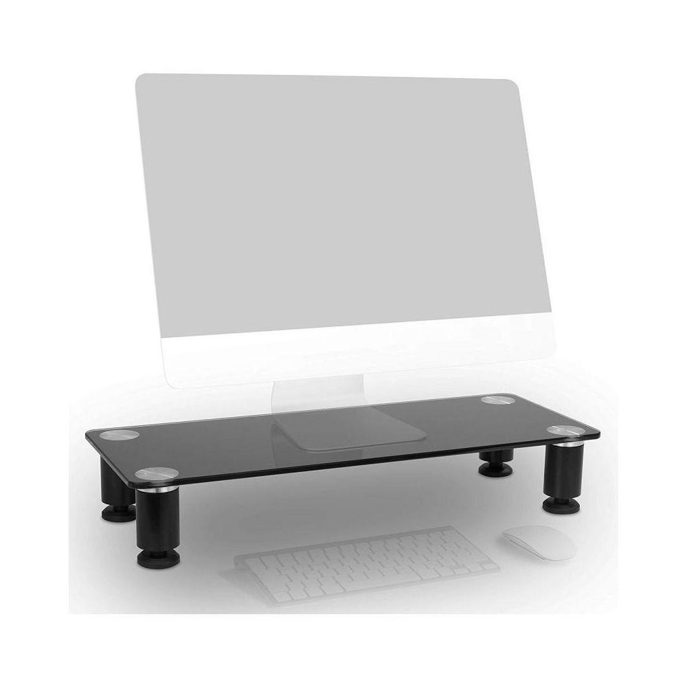 Duronic Duronic DM051 Réhausseur d`écran/Support en Verre pour écran d`ordinateur/Ordinateur Portable/écran TV (63 x 24 cm)