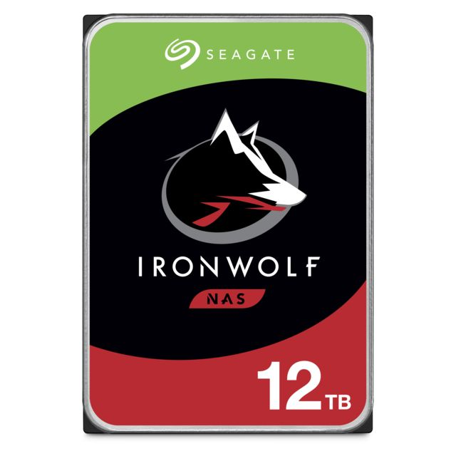 Seagate - Ironwolf 12 To - 3.5'' SATA III 6 Go/s - Cache 256 Mo - Disque Dur interne