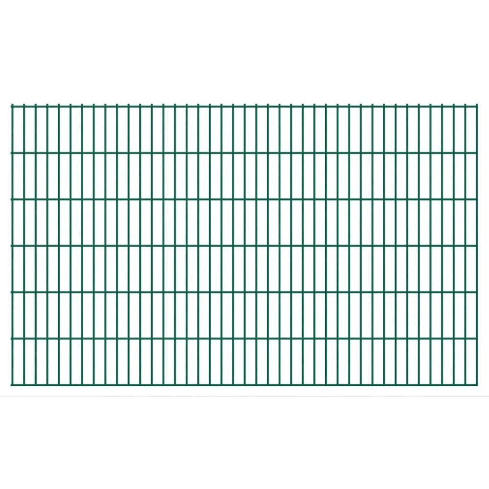 Vidaxl Panneaux de clôture 2D pour jardin 2008x1230 mm 10 m Vert   Vert