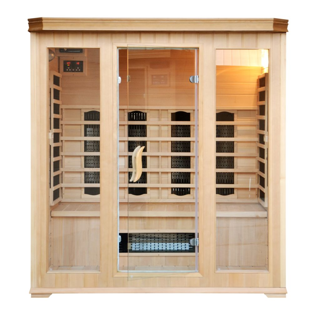Concept Usine Sauna Infrarouge Luxe 4/5 personnes - Chromothérapie - Radio CD inclus