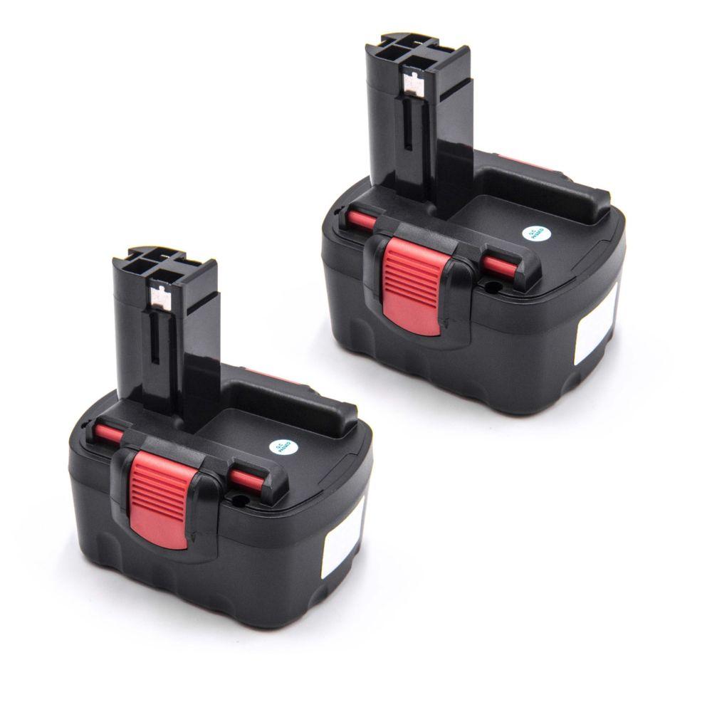 Vhbw 2x Batterie Ni-MH 1500mAh (14.4V) vhbw pour outils PSR 14.4, PSR 14.4-2, PSR 14.4, N comme Bosch 2 607 335 264, 2 607 33