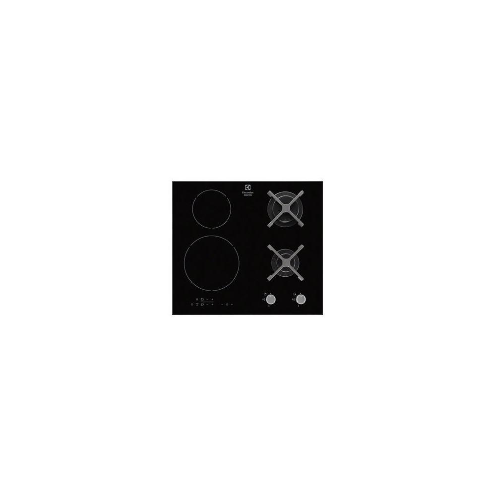 Electrolux electrolux - table de cuisson mixte induction et gaz 60cm 4 feux 8300w noir - egd6576nok
