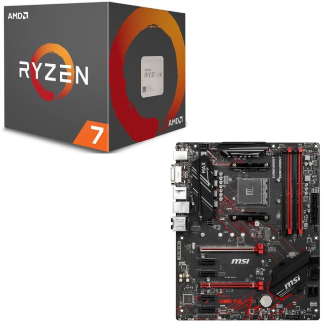 Amd - Ryzen 7 2700X Wraith Prism Edition - 3,7/4,3 GHz + AMD B450 GAMING PLUS MAX - ATX - Kit d'évolution