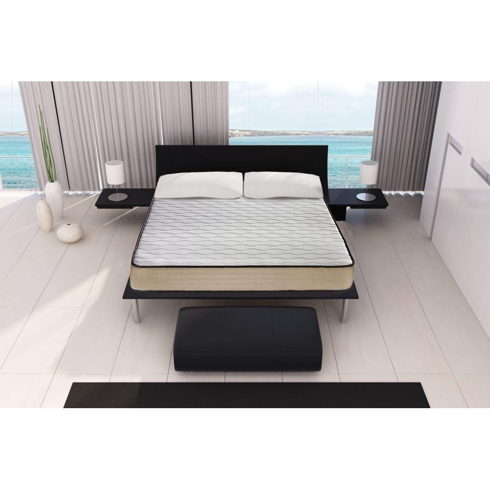 2 x Pillows LIVIVO Oreiller en mousse /à m/émoire de forme en bambou de luxe ferme pour la t/ête du cou orthop/édique hypoallerg/énique et antibact/érien