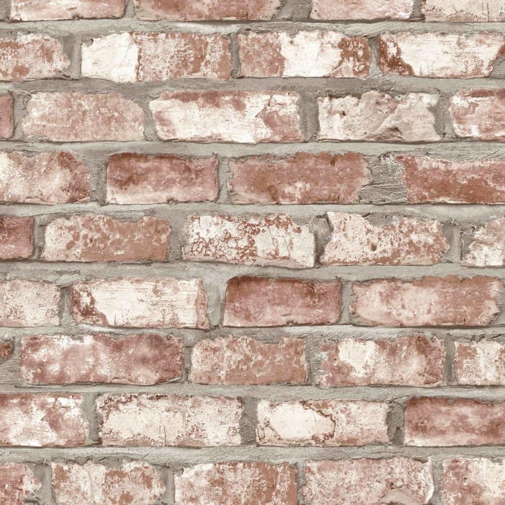 Dutch Wallcoverings DUTCH WALLCOVERINGS Papier Peint Briques Rouge Revêtement Mural Décor Chambre