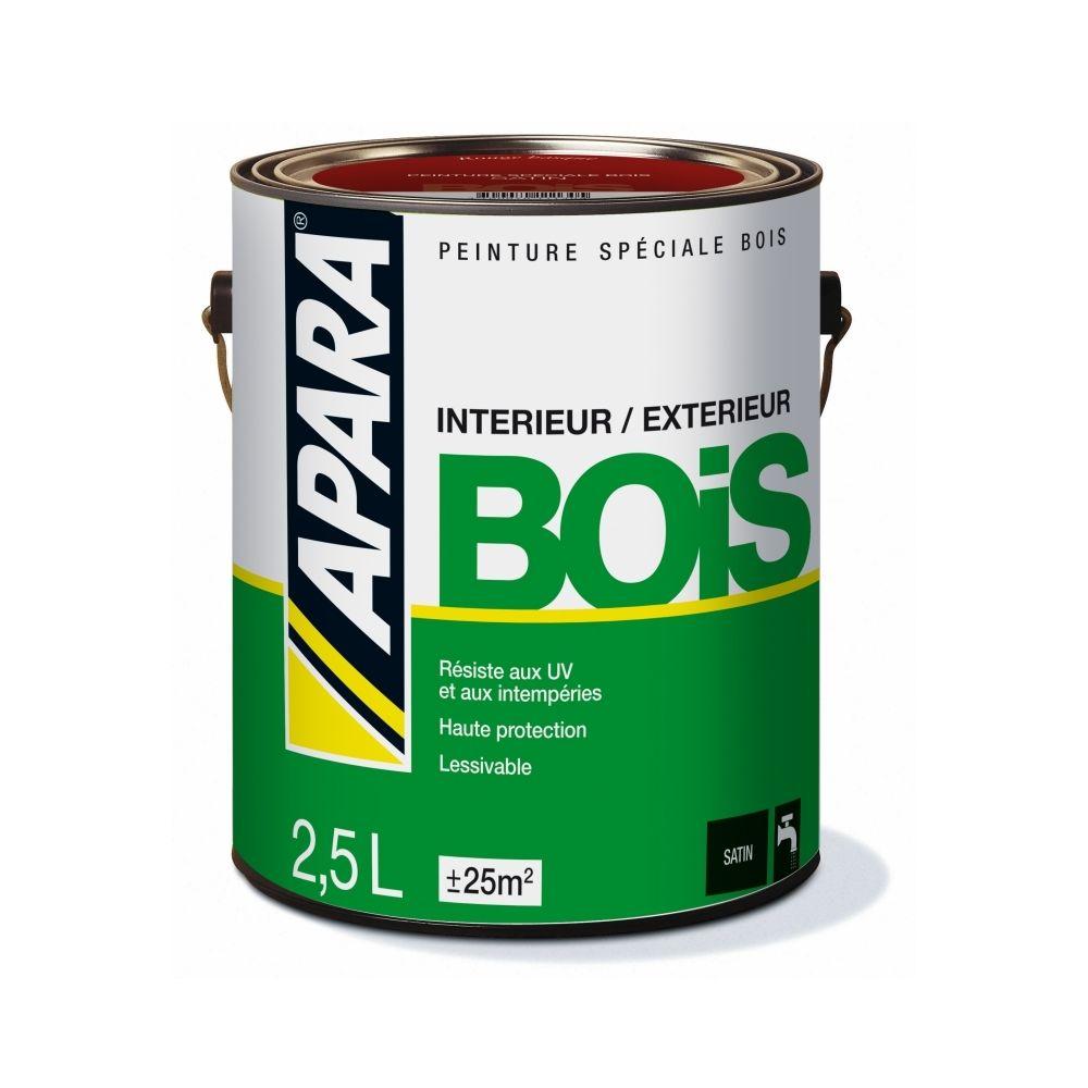 Apara Peinture BOIS SATIN-2.5 litres-Blanc