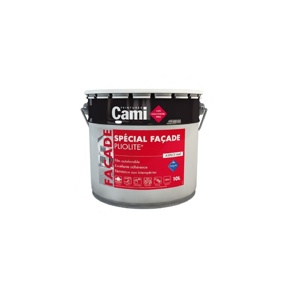 Cami FACADE PLIOLITE BLANC PUR 2,5L - Peinture spéciale pour façade à rénover - CAMI