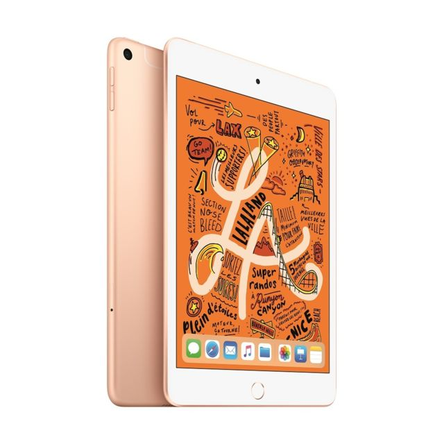 Apple - iPad mini 2019 - 64 Go - Wifi - MUQY2NF/A - Or - Tablette tactile