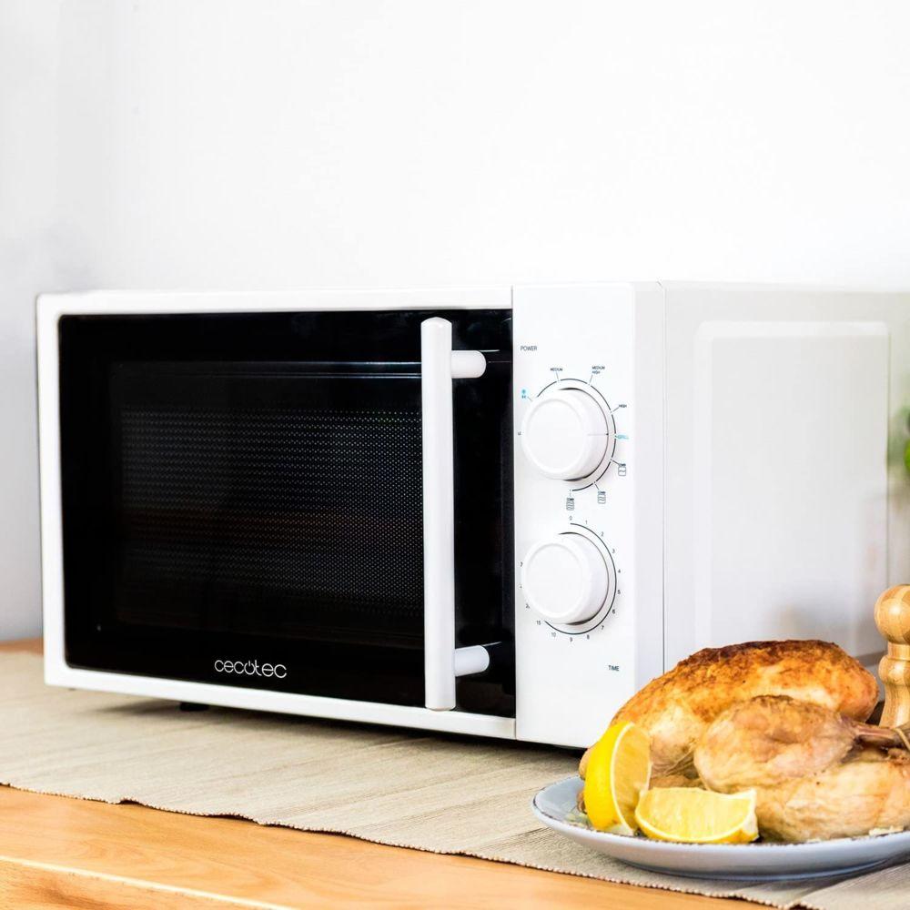 Cecotec Micro-ondes de 20L avec grill et minuterie 1200W noir blanc