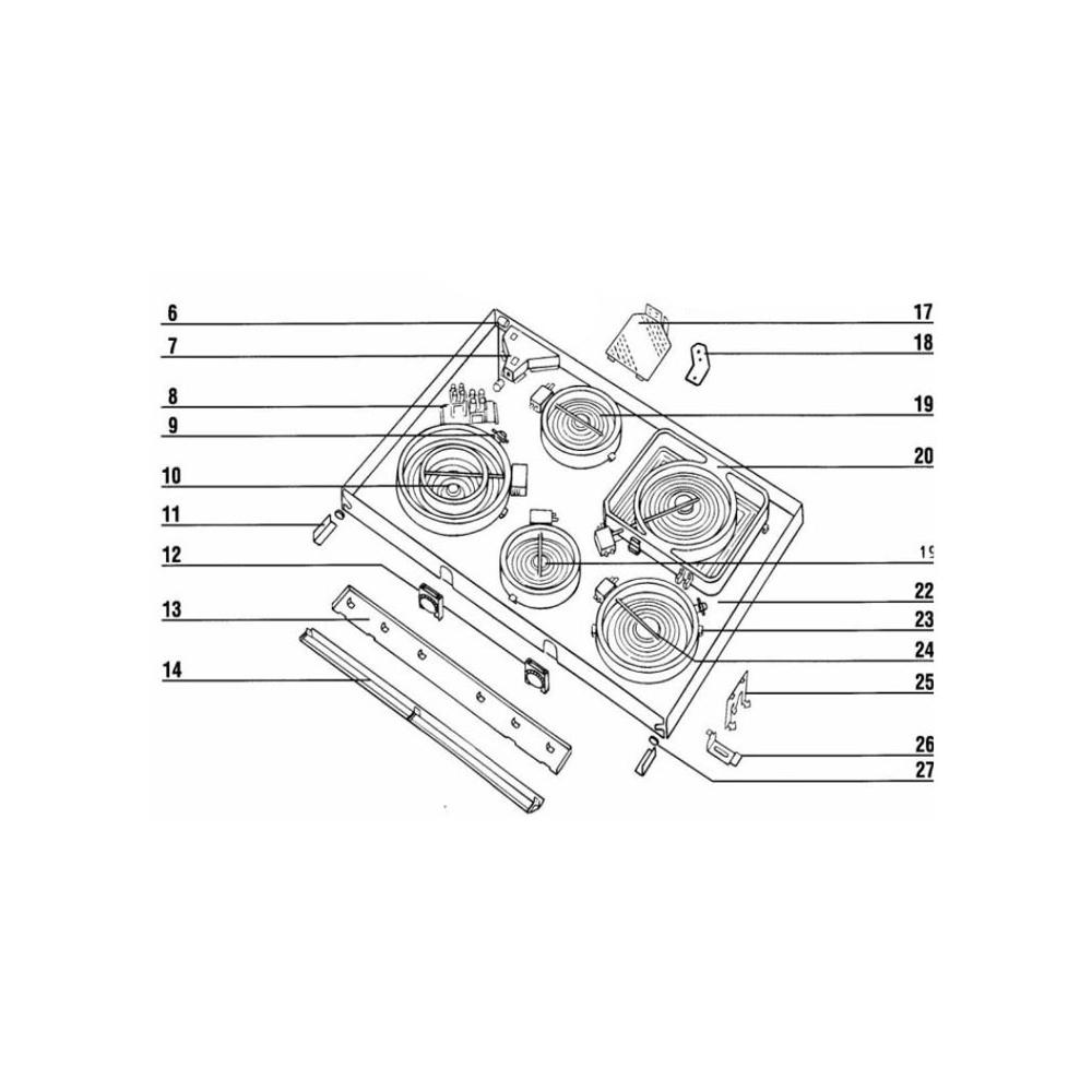 Kuppersbusch FOYER AVANT GAUCHE REP 10 POUR TABLE DE CUISSON KUPPERSBUSCH - 160325