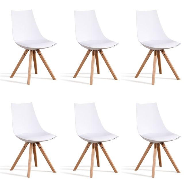 Oneboutic -Lot de 6 chaises scandinaves blanches - Minsk Oneboutic  - Chaises
