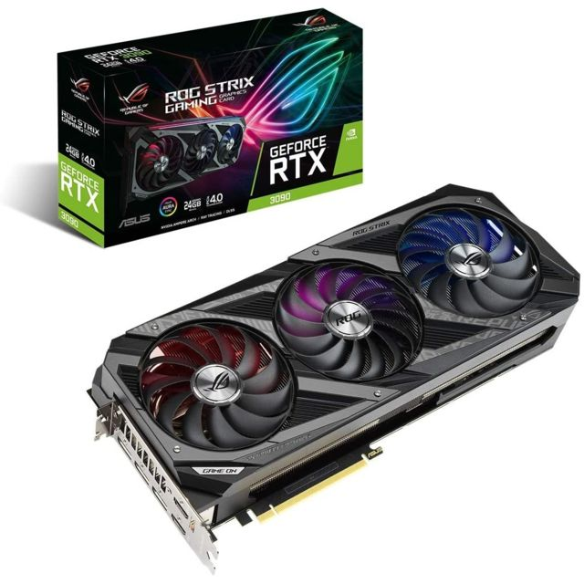 Asus - GeForce RTX 3090 OC - ROG STRIX - Triple Fan - 24Go - Carte Graphique NVIDIA