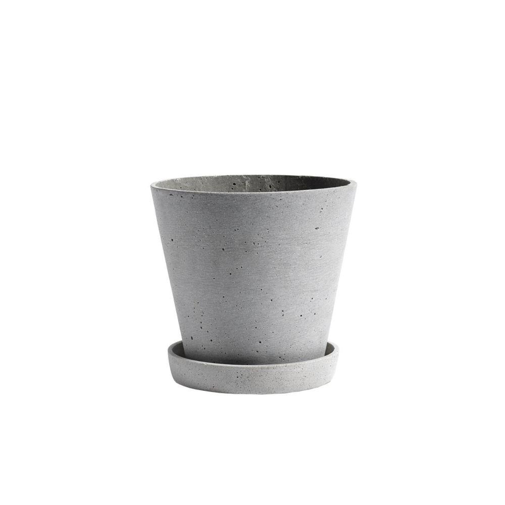 4 X Typhoon Plain CAFE pastel gris en céramique grès 14 cm Diamètre Soucoupe
