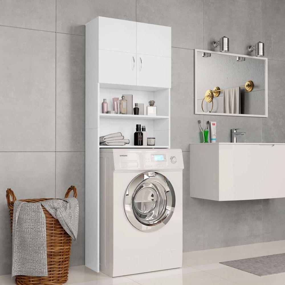Vidaxl vidaXL Meuble pour machine à laver Blanc 64 x 25,5 x 190 cm Aggloméré