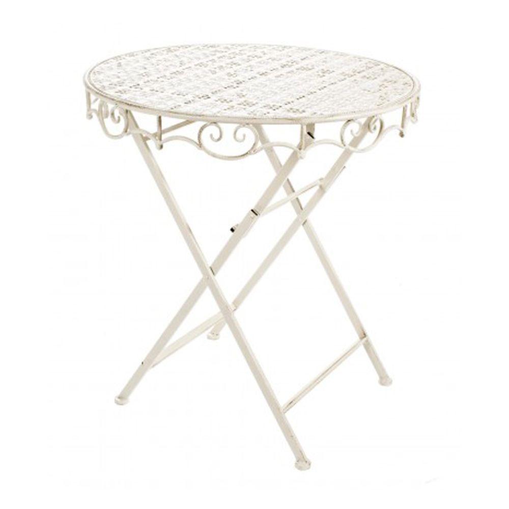 Pegane Table basse ronde en Fer peint - Dim : 70 x 74 cm -PEGANE-