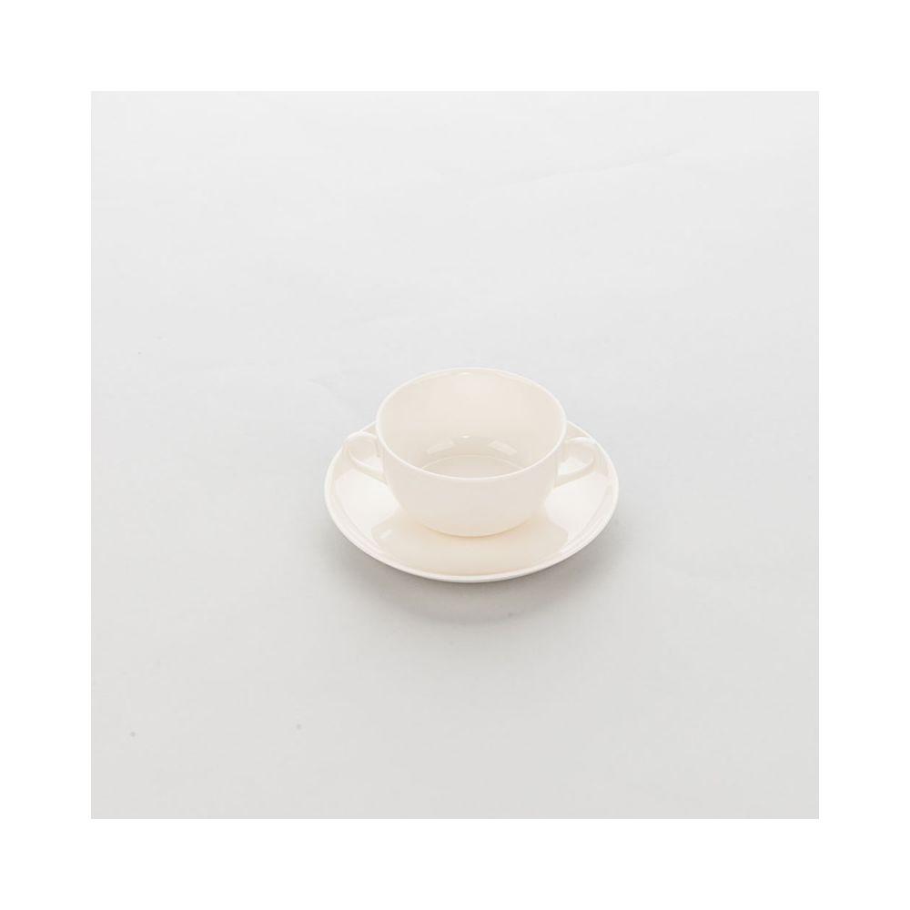 Materiel Chr Pro Bol Porcelaine Ecru avec Anses Liguria 360 ml - Lot de 6 - Stalgast - 11 cm Porcelaine