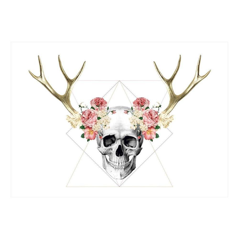 Homemania HOMEMANIA Tableau Limited Edition - Crâne - pour Séjour, Chambre - Multicolore en Coton, Bois, 67 x 2 x 100 cm