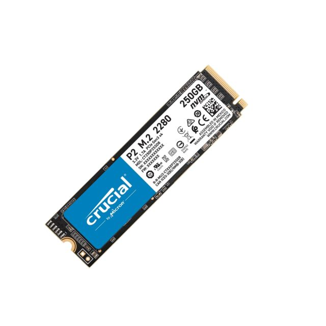Crucial P2 3D NAND - 250 Go - M.2 Nvme PCIe