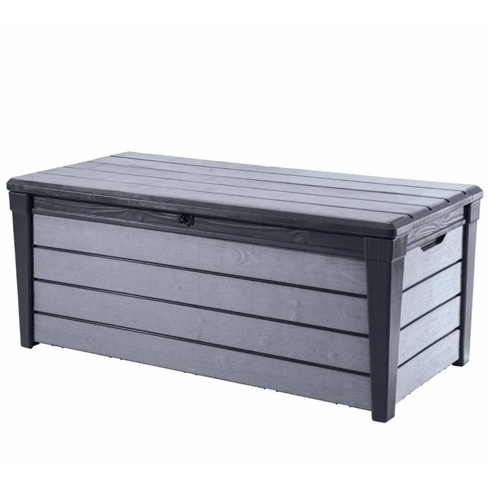 Keter Keter Boîte de Rangement de Jardin Brushwood 455 L Anthracite Coffre Stockage