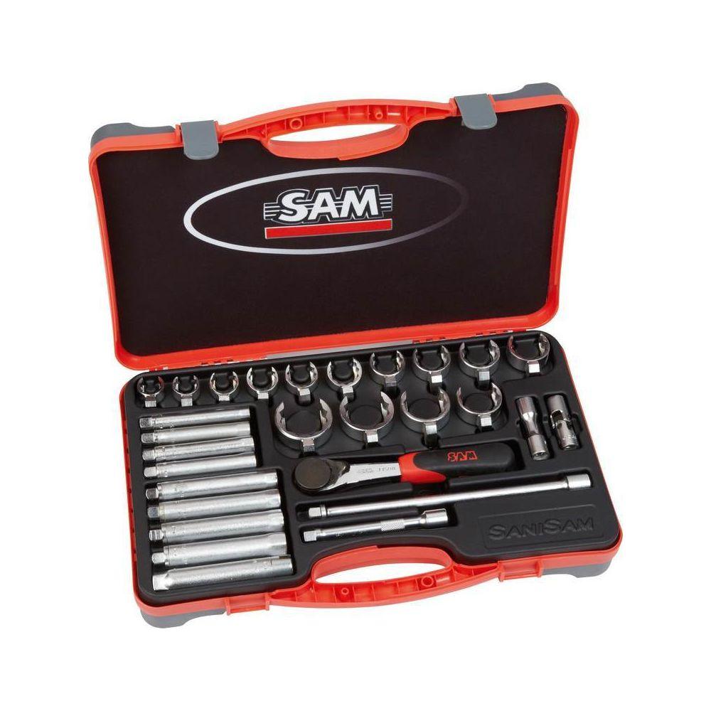 Sam outillage 9410 Cl/é /à pipe d/ébouch/ée 6//6 pans satin/ée