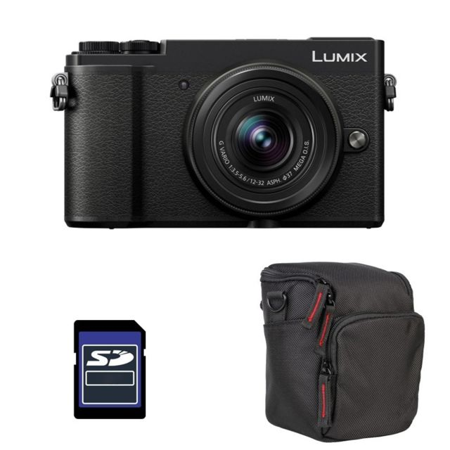 Panasonic - PACK PANASONIC LUMIX GX9 Noir + 12-32 + Sac et Carte SD 4 Go - Pack appareil photo