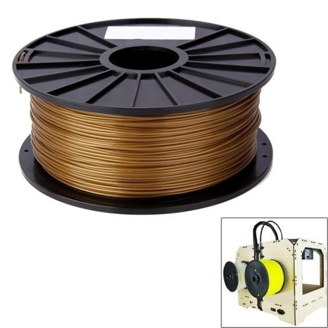 Wewoo - Filaments d'imprimante 3D PLA 3.0 or mm de couleur, environ 115 m - Imprimante 3D
