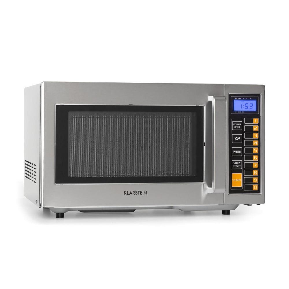 Klarstein Klarstein Pro Bestzeit 25 Four micro-ondes 25 litres 1000W - 3 niveaux de puissance - Ecran LCD - Minuterie - Inox