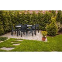 Soldes Table jardin resine imitation bois - Achat Table ...