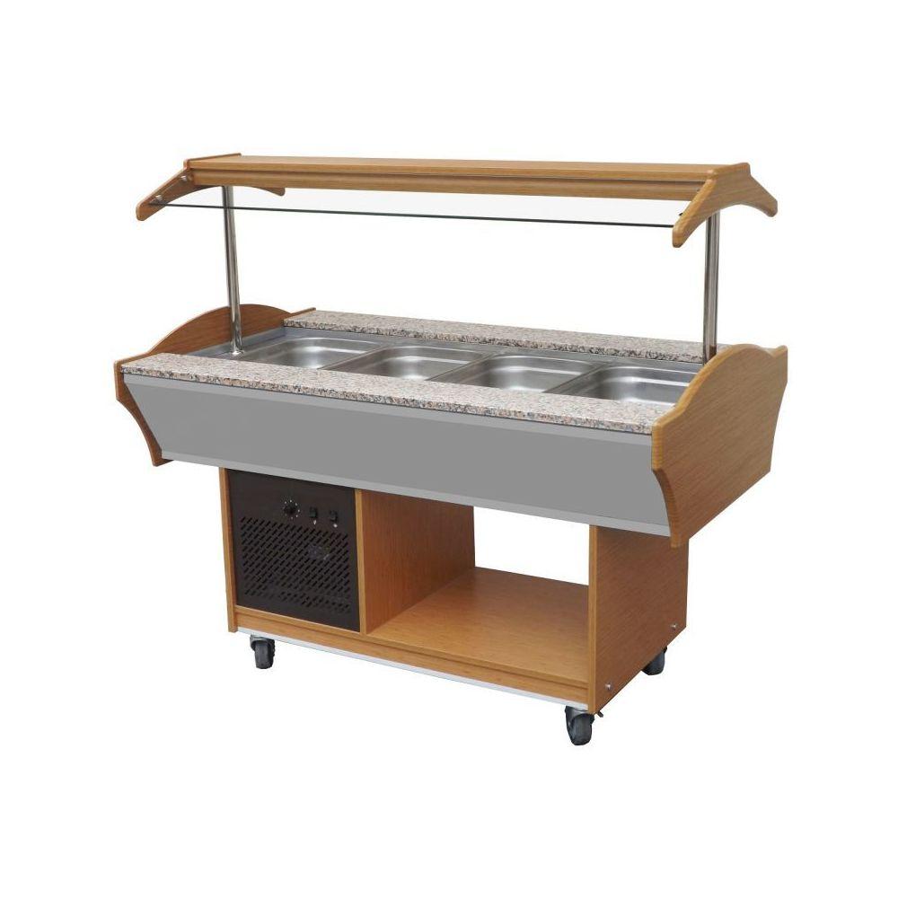 Combisteel Buffet Froid Professionnel de 3 à 6 Bacs GN 1/1 - Combisteel - 1550 mm