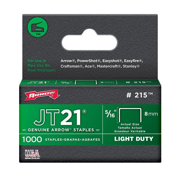 Arrow - arrow - lot de 1000 agrafes jt21 8mm - 215 - Agrafeuses