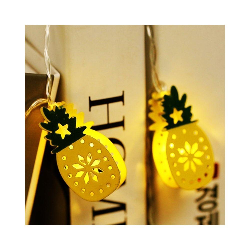 Wewoo Guirlande LED 3m de fer à double face ananas prise USB romantique chaîne vacances lumière, 20 LEDs adolescente style cha