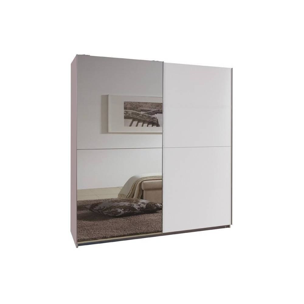 Inside 75 Dressing portes coulissantes CLAPTON 179 cm blanc / miroir