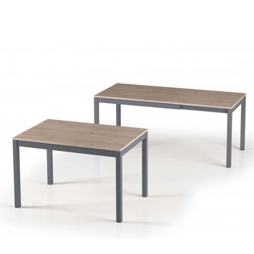 Inside 75 Table de repas extensible ALUNGO 120 x 80 cm chêne naturel