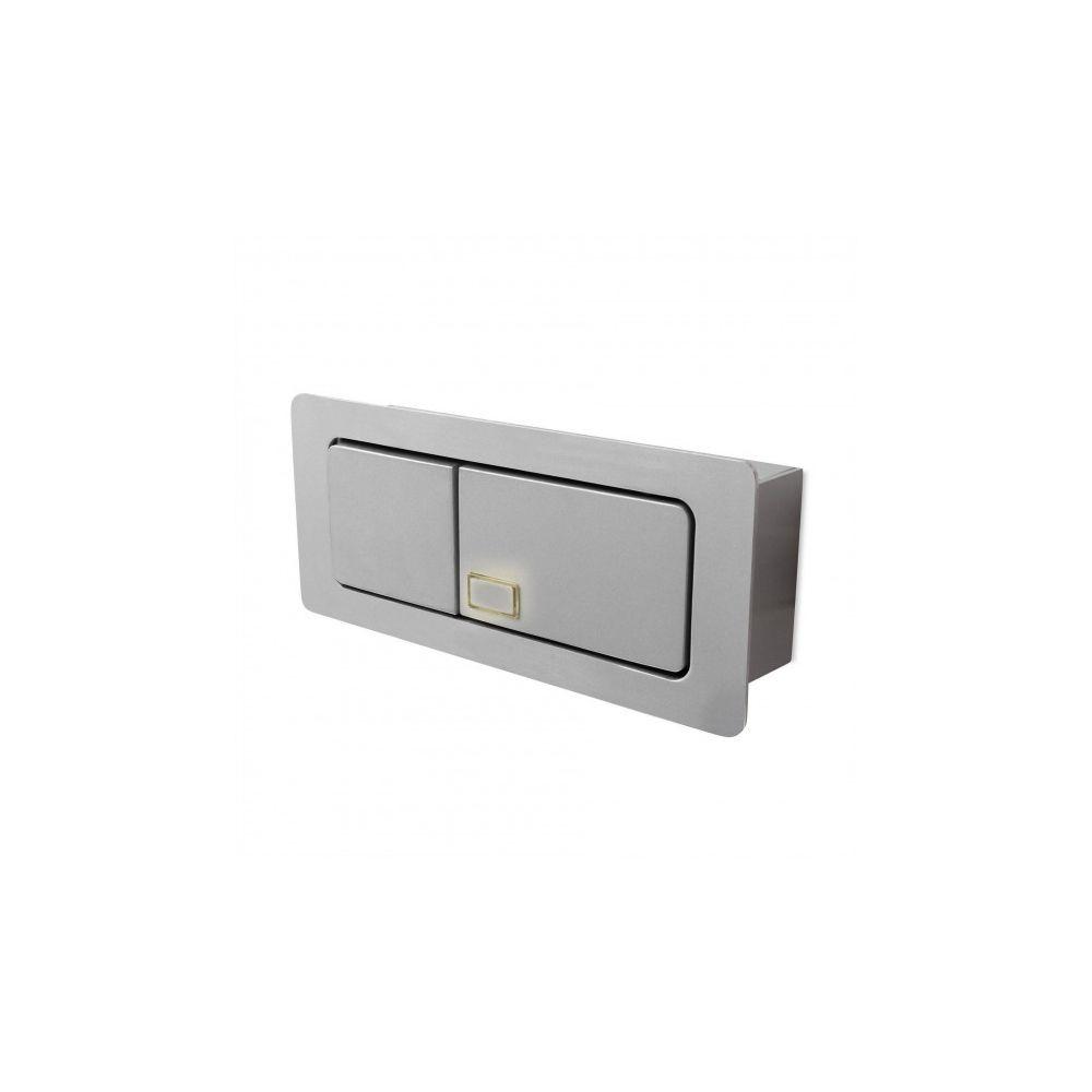 Leds C4 Applique encastrable Esatk, Aluminium gris
