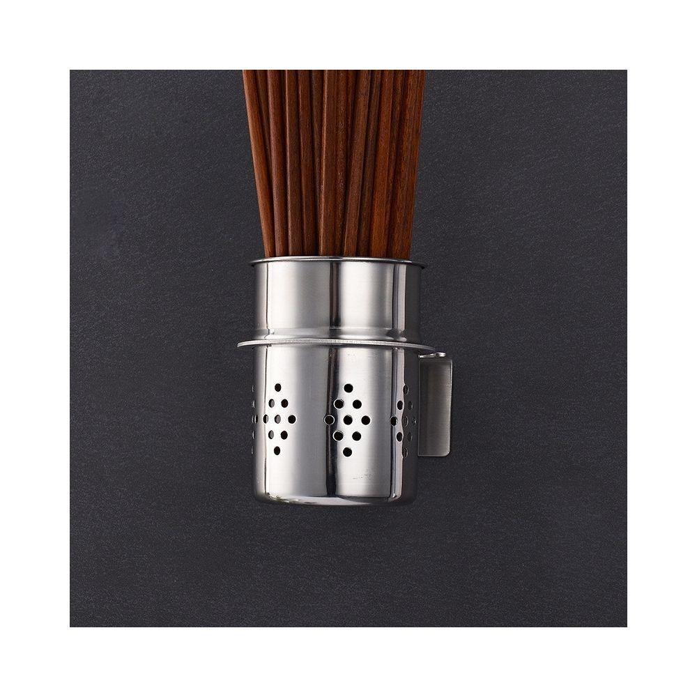 Wewoo 201 Baguettes à en acier inoxydable Baril Cuisine multi-fonctions Support de rangement mural sans de perforation