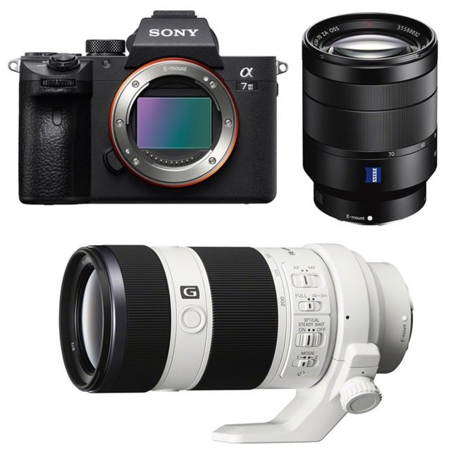 Sony - PACK SONY ALPHA 7 III + FE 24-70 f/4 ZEISS + FE 70-200 f/4 - Pack appareil photo
