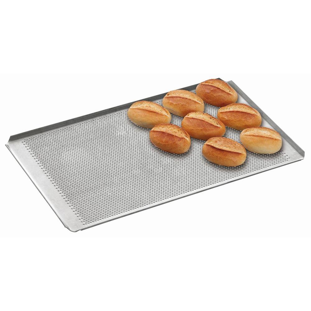 Bartscher Plaque perforee avec revetement silicone GN 1/1 perforation 3 mm 4 bords a plis inclines , epaisseur 1,5 mm
