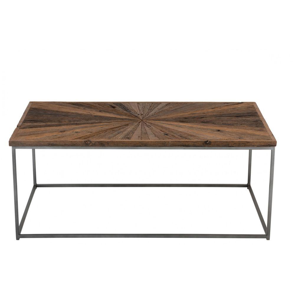 HELLIN Table basse en bois et métal - SHINE