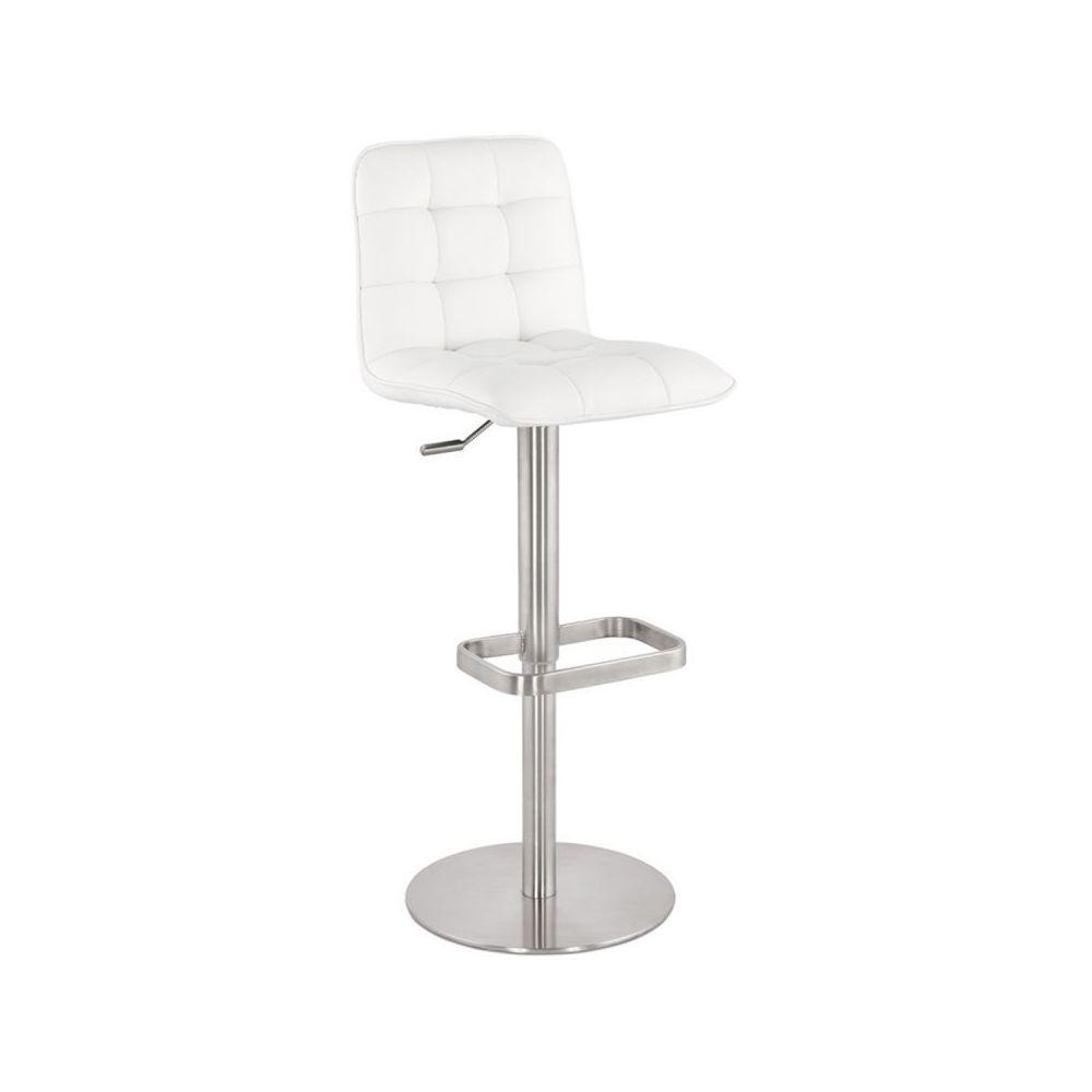 Paris Prix Tabouret de Bar Design Albion 112cm Blanc