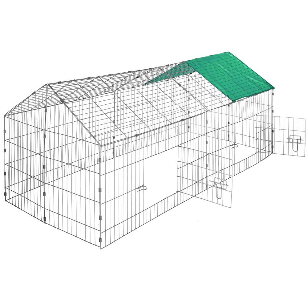 Tectake Enclos pour rongeurs 180 x 75 x 75 cm - vert