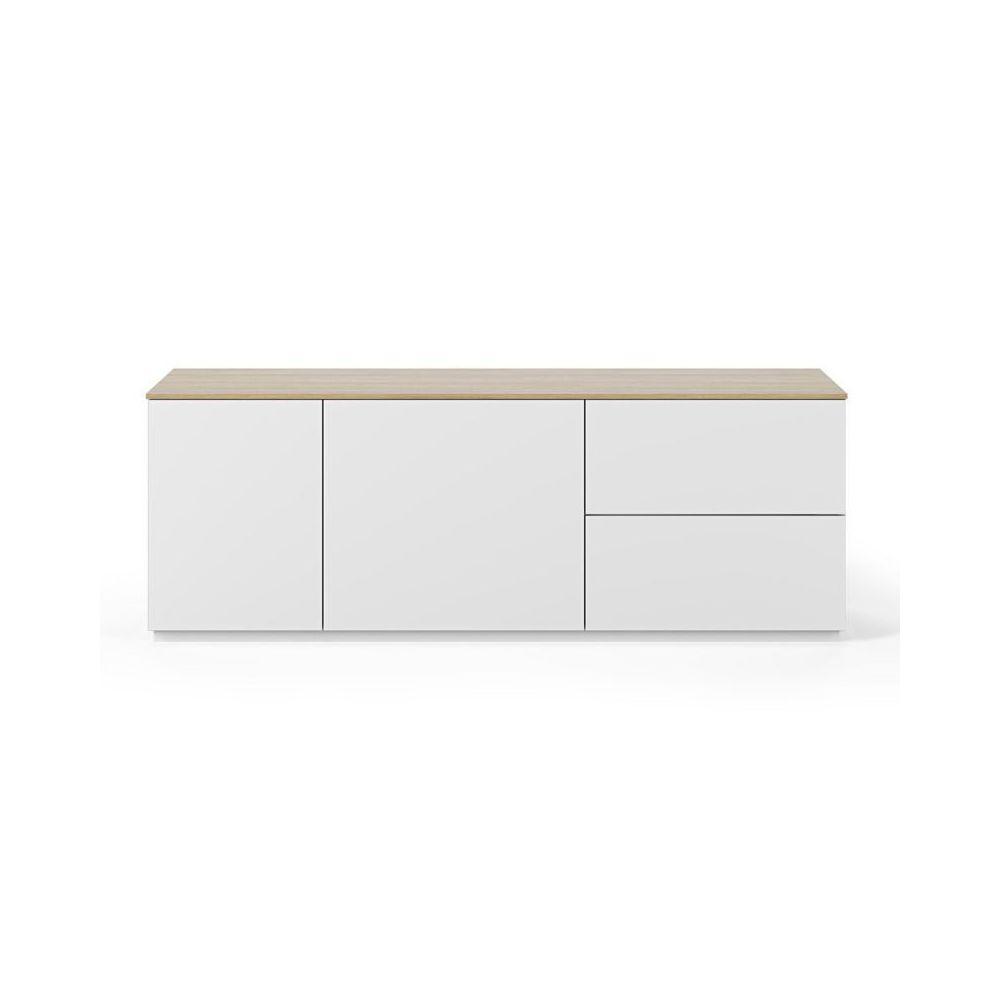 Paris Prix TemaHome - Buffet Design Join VI 160cm Blanc & Chêne