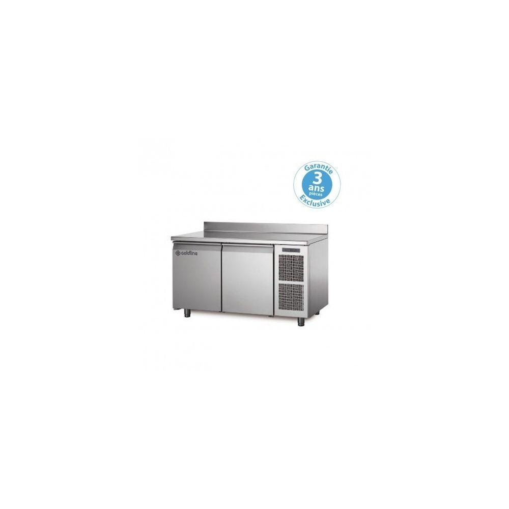 Materiel Chr Pro Table réfrigérée négative - groupe logé - 2 portes - 260 litres - profondeur 800 - 600 x 400 - avec dosseret -