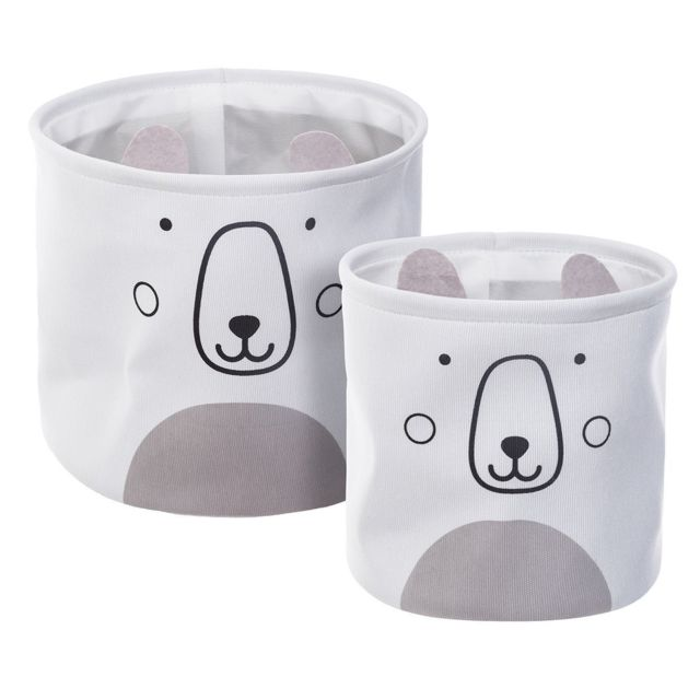 Atmosphera, Createur D'Interieur - Lot de 2 bacs de rangement Ourson - Commode