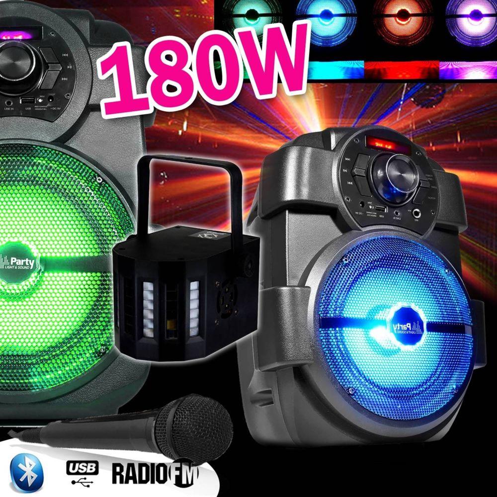 Itpms Karaoké Enfants Enceinte 180W portable Batterie  avec MICRO USB/BLUETOOTH/ RADIO FM + DERBY