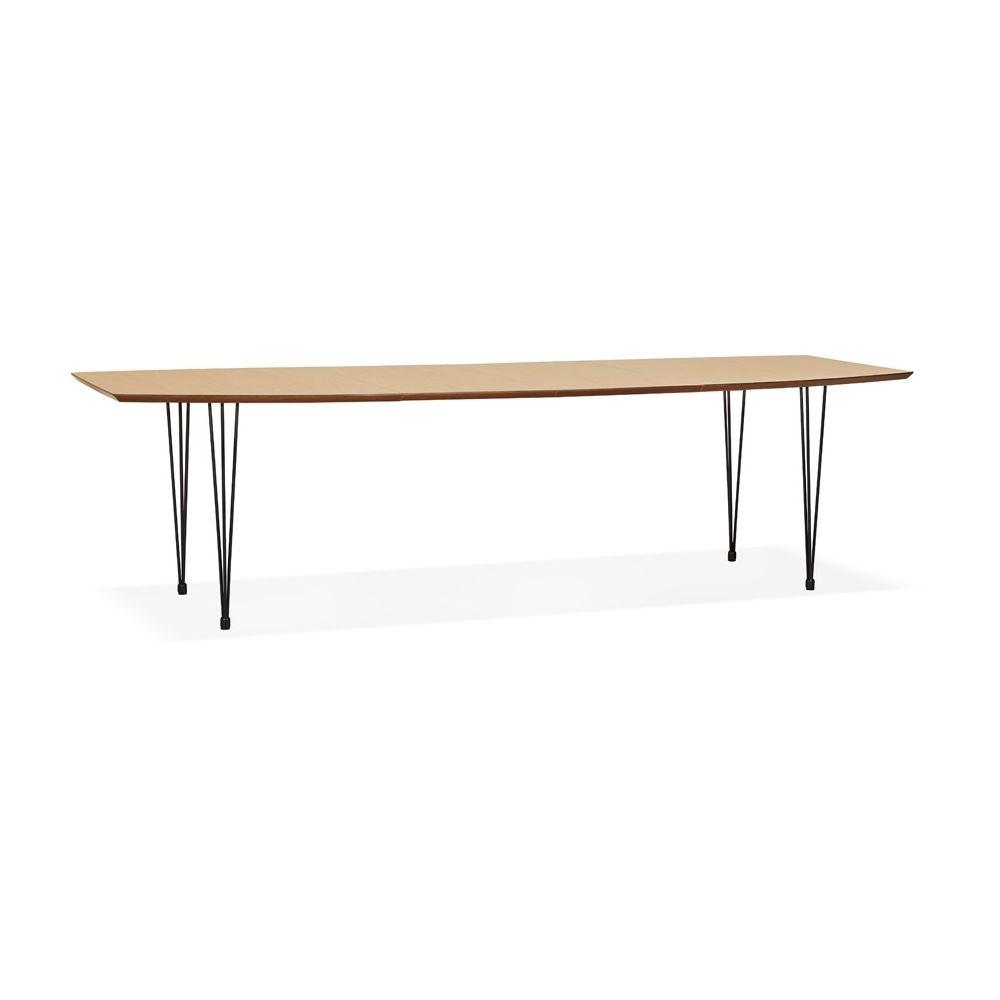 Alterego Table à dîner / de réunion extensible 'MOTUS' en bois finition naturelle - 170(270)x100 cm