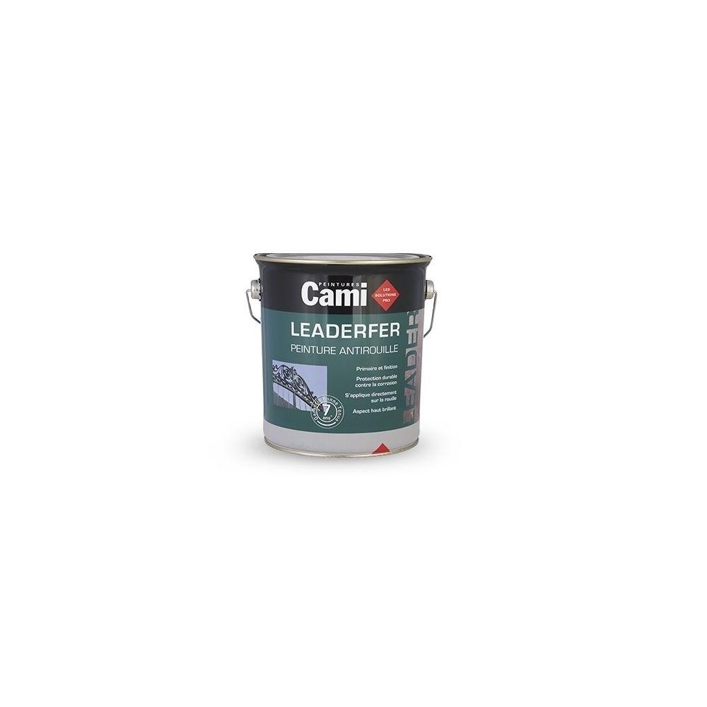 Cami LEADERFER Noir Mat Ferronerie 2,5L -Laque antirouille brillante pour toutes vos ferrures- CAMI