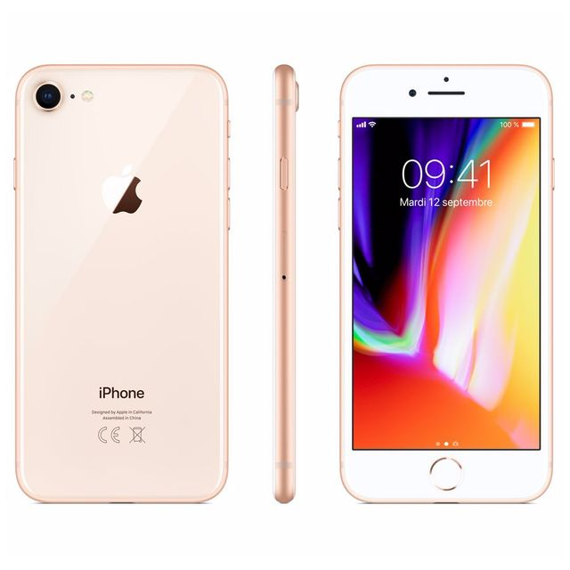 Apple - iPhone 8 - 256 Go - MQ7E2ZD/A - Or - iPhone 256 go