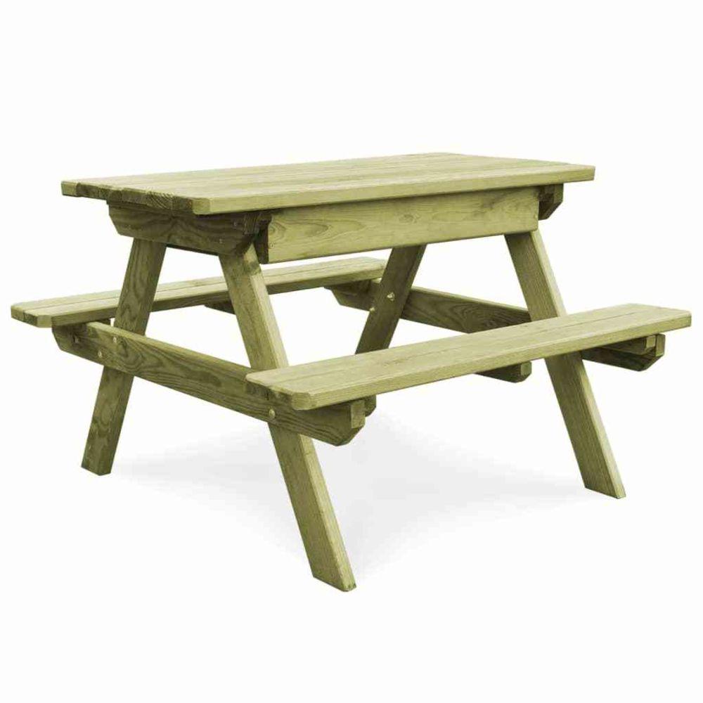 Vidaxl Table de pique-nique avec bancs Bois de pin imprégné FSC | Vert - Meubles de jardin - Tables d'extérieur | Vert | Vert